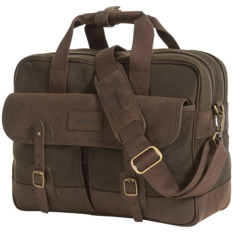 Barbour Mizzen Briefcase - Waxed Cotton