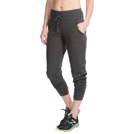 Steve Madden Joggers - Vegan Leather Pocket Trim (For Women)