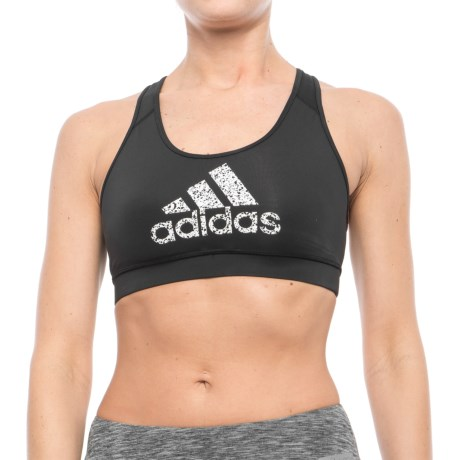 adidas Graphic Racerback Sports Bra - Low Impact (For Women)