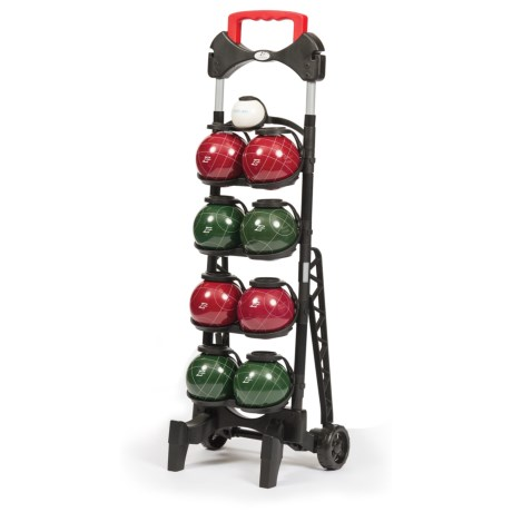 EastPoint Resin 103mm Bocce Ball Set with Caddy
