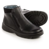 Naot Lynx Leather Ankle Boots - Dual-Side Zip (For Women)