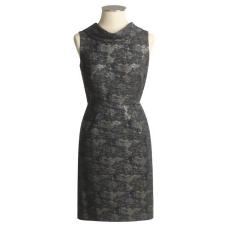 Donna Ricco New York Floral Jacquard Dress - Roll Neck, Sleeveless (For Women)