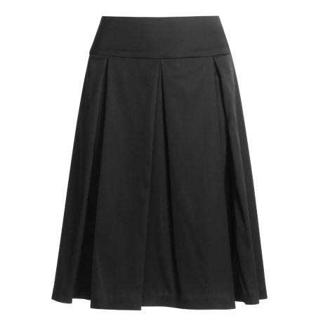 Donna Ricco Collection Stretch Satin Skirt - Pleated (For Women)