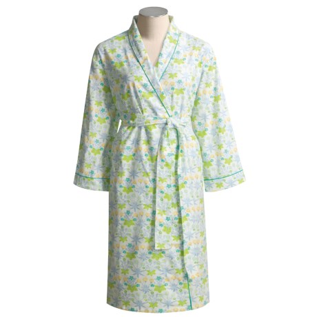 Needham Lane Flannel Robe - Cotton (For Women)