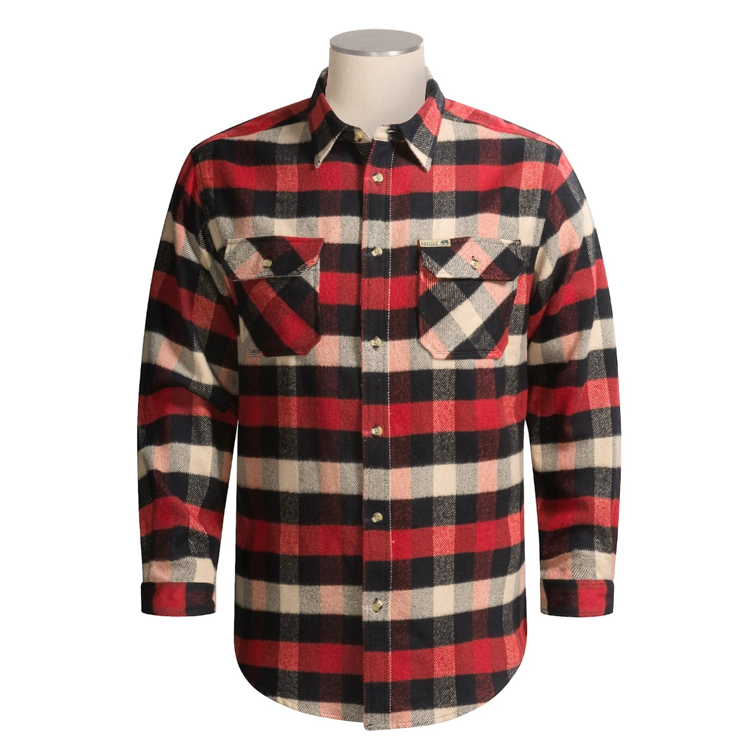Grizzly Woodsman Buffalo Plaid Shirt For Men 1783a