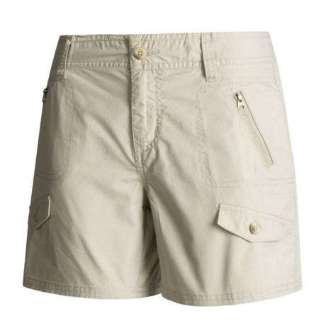 Columbia Sportswear Cargo Shorts - Redbud, Ripstop (For Women)