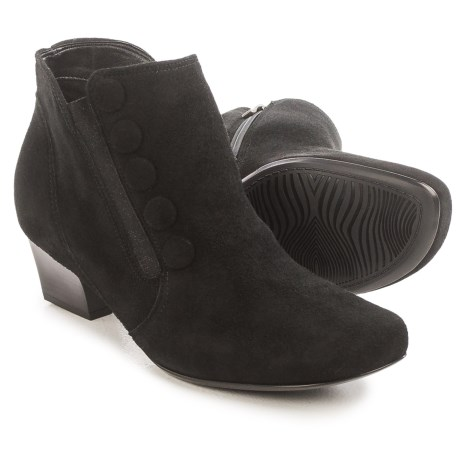Ara Onyx Ankle Boots - Suede, Tapered Heel (For Women)