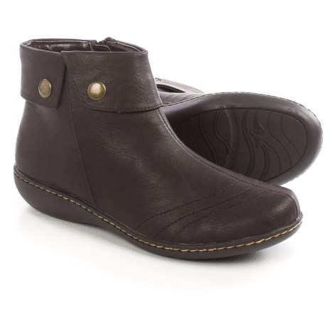 Hush Puppies Soft Style Jerlynn Ankle Boots - Leather, Side Zip (For Women)