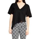Satva Maya V-Neck Asymmetric Shirt - Organic Cotton-Modal, Short Sleeve (For Women)