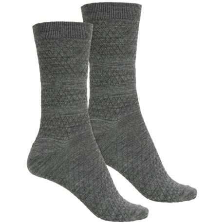 SmartWool Textured Merino Wool Socks - 2-Pack, Crew (For Women)