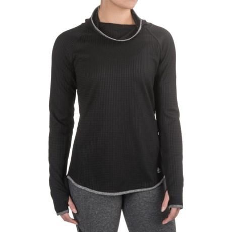 RBX Studio Waffled Cowl Neck Shirt - Long Sleeve (For Women)