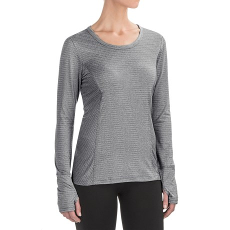 RBX Peached Jacquard Shirt - Long Sleeve (For Women)