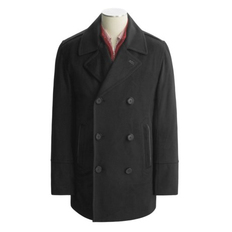 Marc New York by Andrew Marc Julian Pea Coat - Wool-Blend Twill (For Men)