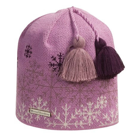 Moon Shadow Snowflake Beanie Hat (For Men and Women)