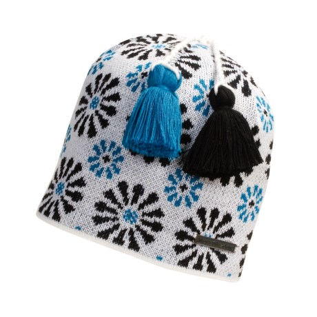 Moon Shadow Floral Beanie Hat (For Women)