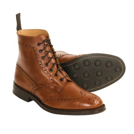 Tricker's Handmade Derby Boots - Wingtip (For Men)