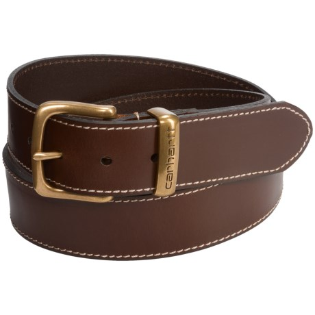 Carhartt Jeans Leather Belt - Metal Keeper (For Men)