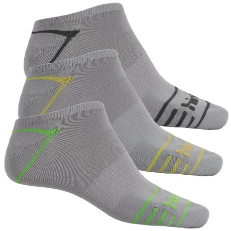 Hind Micro No-Show Socks - 3-Pack, Below the Ankle (For Men)