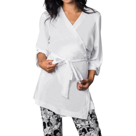 Soybu Spa Zen Stretch-Jersey Robe - 3/4 Sleeve (For Women)