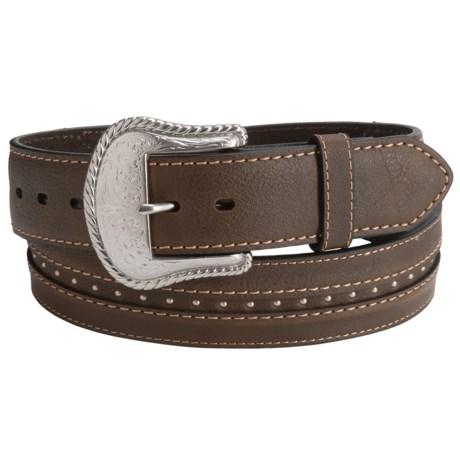 G Bar D Rivet Detail Leather Belt (For Men)