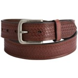 Dan Post Embossed Basket-Weave Leather Belt (For Men)