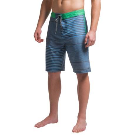 JKL Just Keep Livin Stripe Mash Up 4X Boardshorts (For Men)