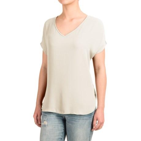 Specially made Fluttery V-Neck Shirt - Short Sleeve (For Women)