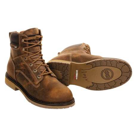 Double H Leather Work Boots - Waterproof, Leather, Lace-up (For Men)