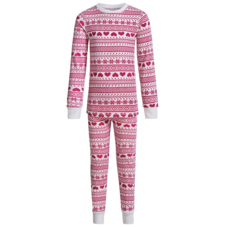 Cuddl Duds Thermal Base Layer Set - Long Sleeve (For Big and Little Girls)