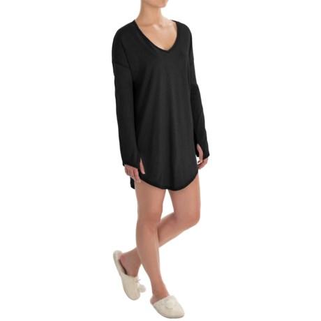 Naked Pima Cotton Sleep Shirt - Long Sleeve (For Women)