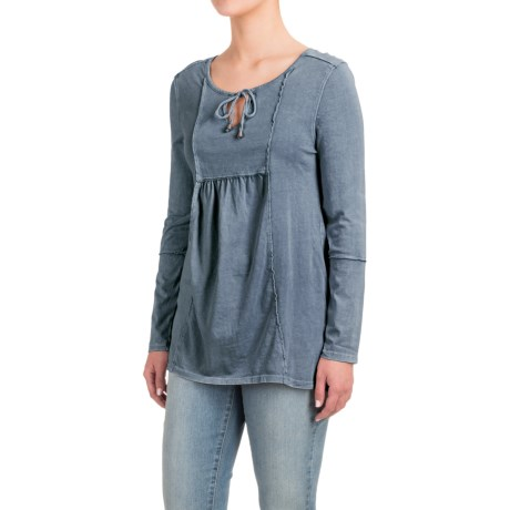 CG Sport Cable & Gauge Peasant Top - Long Sleeve (For Women)