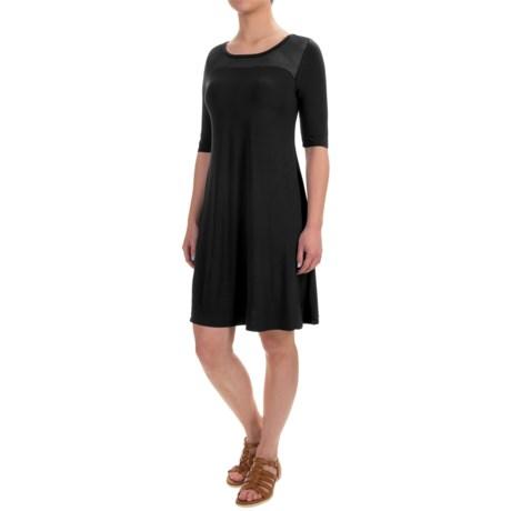 CG Sport Cable & Gauge Sport Mesh-Yoke Dress - Elbow Sleeve (For Women)