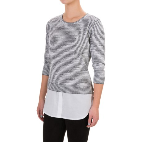 Eight Eight Eight Space-Dyed Striped Sweater (For Women)