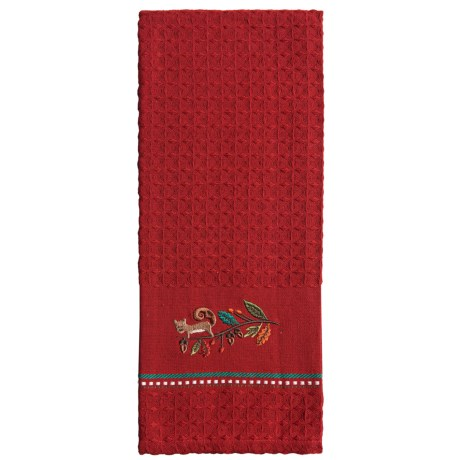 DII Embroidered Cotton Dish Towel