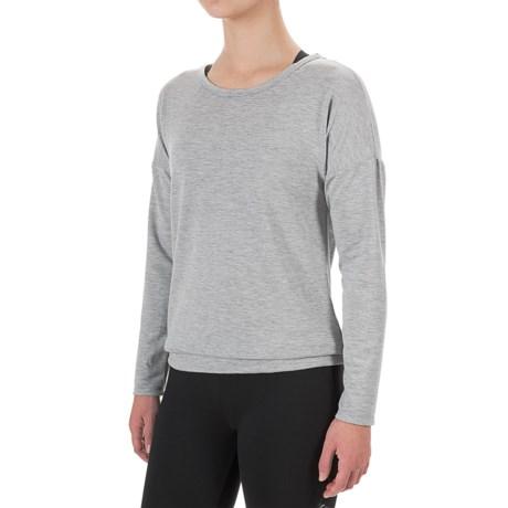 Harmony and Balance Criss-Cross Back Shirt - Long Sleeve (For Women)