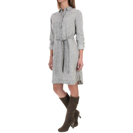 Foxcroft Animal Print Dress - Long Sleeve (For Women)