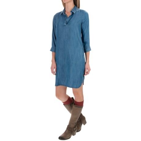 Foxcroft Solid TENCEL® Dress - V-Neck, 3/4 Sleeve (For Women)