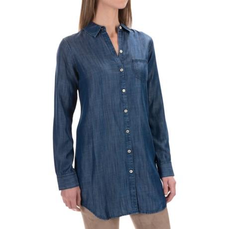 Foxcroft Soft TENCEL® One Pocket Tunic Shirt - Long Sleeve (For Women)
