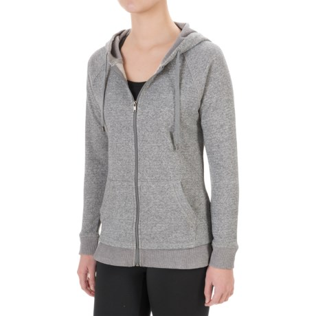 Harmony and Balance French Terry Hoodie - Zip Front (For Women)