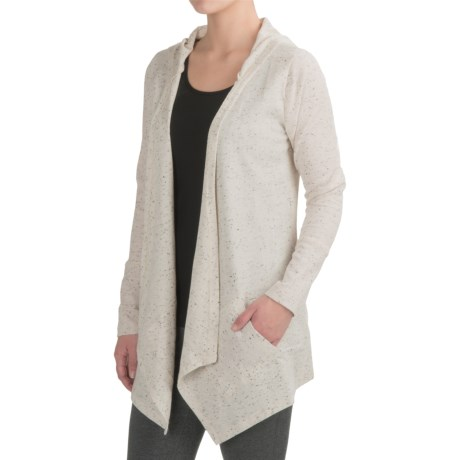 Harmony and Balance Waffle-Knit Fly Away Cardigan Shirt - Hooded, Long Sleeve (For Women)