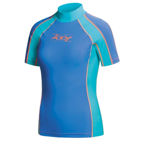Zoot Sports Rash Guard - Purecarve, Short Sleeve  (For Women)