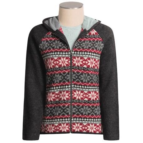 Woolrich Twin Lake Cardigan Sweater - Boiled Wool, Hooded (For Women)