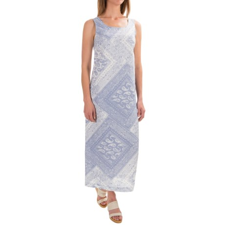 Artisan NY Bandana-Print Long Dress - Linen, Sleeveless (For Women)