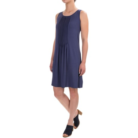 Adrienne Vittadini Solid Pintuck Dress - Sleeveless (For Women)