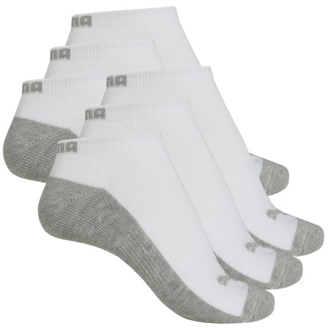 Puma Half Terry Low-Cut Socks - 6-Pack, Below the Ankle (For Women)
