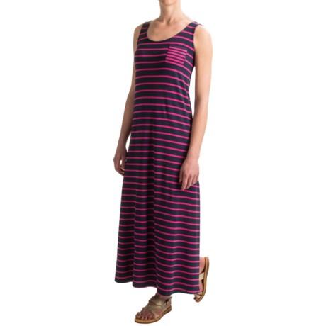Paraphrase Rayon Striped Maxi Dress - Sleeveless (For Women)