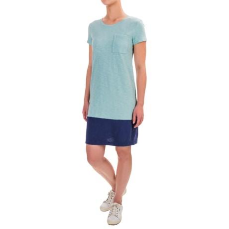 Antibes Blanc Cotton Slub Jersey Shirt Dress - Short Sleeve (For Women)