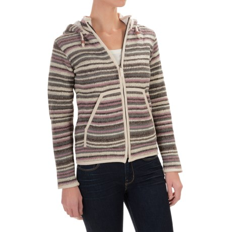 Laundromat Geneva Hooded Wool Sweater - Cotton Lined (For Women)