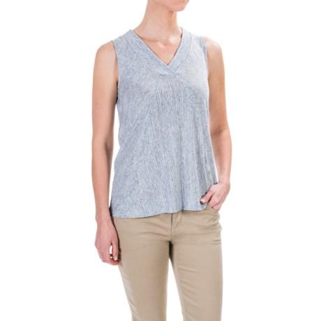 Willi Smith Stripe T-Shirt - Linen, Sleeveless (For Women)