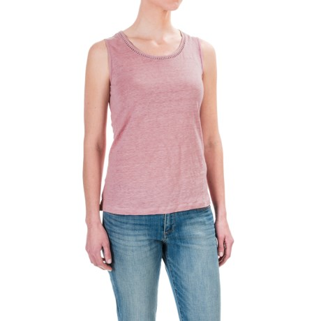 St. Tropez West Linen Tank Top - Scoop Neck (For Women)